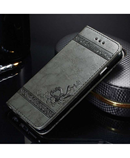 Black Heart 3D Flip Leather Case iPhone Wallet